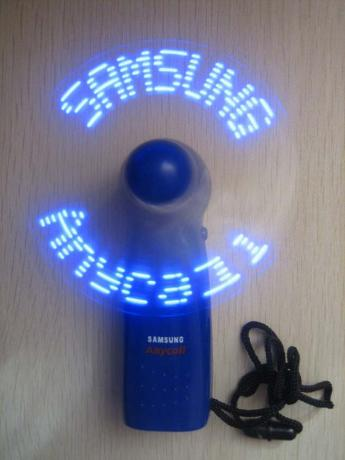 LED flashing fan